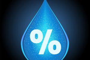 humidity icon vector / drop